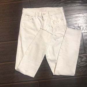 MOTHER High Waisted Looker Ankle Fray Jeans sz 26